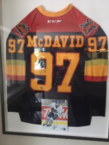Autographed Connor McDavid Jersey and picture