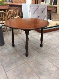 Round Dark Wood Table Free To A Good Home