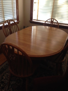 Canadian Made- Real Wood dining set with hutch.