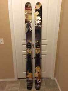 Fischer 122 Big Stix skis w/bindings
