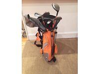 US Kids Golf 5 Club Junior set, orange bag, size 51 (design 35)