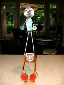 STEEL ART SCULPTURE just too funny!! artist made WHIMSY Cambridge Kitchener Area image 1
