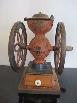 Antique ENTERPRISE #2 Philadelphia Double Wheel Cast Iron Coffee Grinder