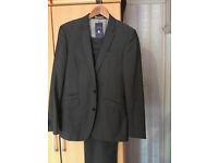 Slim Fit NEXT Grey Mens Suit Trousers 30L & Blazer 38R.
