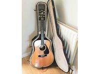 Yamaha FG 400 A acoustic guitar, complete with hard case