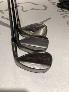 3 Wedges, one great price!  Callaway Mack Daddy 64's and Nike