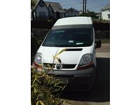 Renault Trafic high top campervan 3/4 berth with 5 belted seats and Kela II driveaway awning