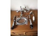 Chrome Bath Shower Mixer Deck Mounted Complete With Shower Kit - Traditional - Brand New & Boxed
