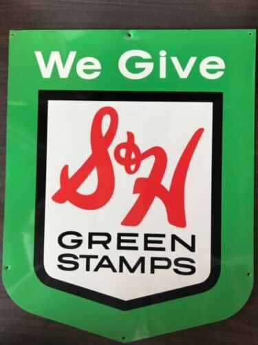 S&H GREEN STAMPS Metal Sign