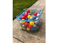 96 coloured, ELC, plastic balls