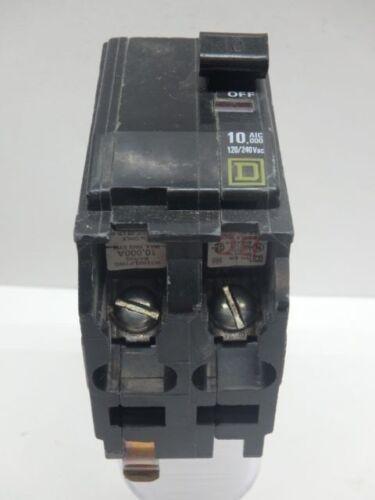AMAT  Mag Therm 2-Pole 240 VAC 10 A Bolt-on QOB2105237 Square D Circuit Breaker