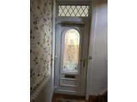 Double glazed bevel glass door 21.10 mm x 900 mm with frame and 4 keys