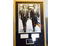 Fully authenticated KRAYS framed autographs