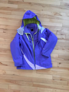 North Face 3 in 1 girls size 10/12 jacket