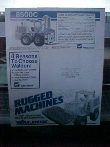 Waldon 8500 Forklift Rugged Machines Brochure  (Folder-1)
