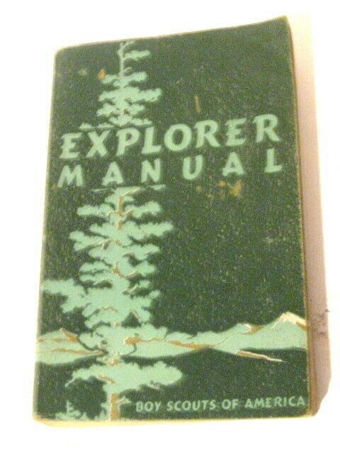 VINTAGE 1952 EXPLORER MANUAL BOY SCOUTS OF AMERICA BSA.