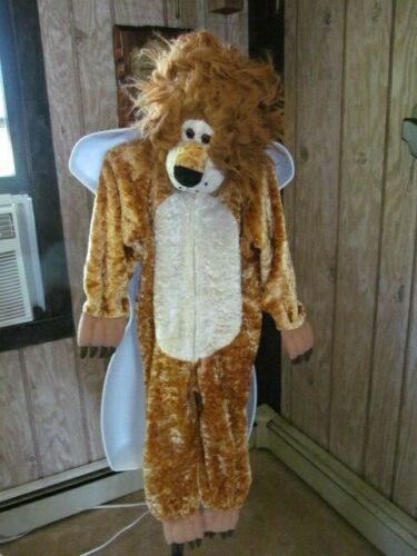 Lion 1 Piece Halloween Costume Playful Plush Ages 4 to 6