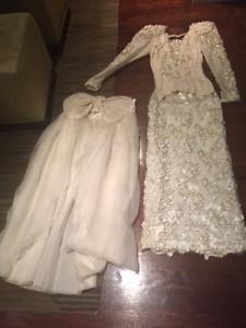 Adele Wechsler Silk Wedding Gown