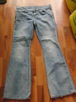 Victoria's Secret Sz 12 London Jeans Distressed Light Wash