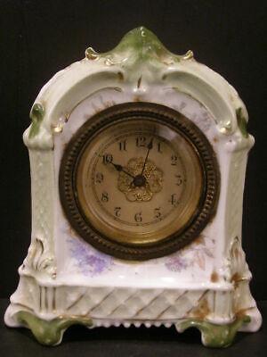 Bronze Antique Glass Shelf - Antique Neoclassical Porcelain/China Case Shelf Clock Beveled Glass Bronze Bezel