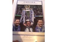Rare Jose Mourinho signed print - Chelsea League Champions 2004/05 Limited