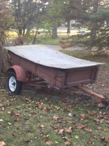 Older wood and steel utility trailer for sale