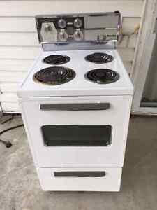 "24"" Apartment size stove."