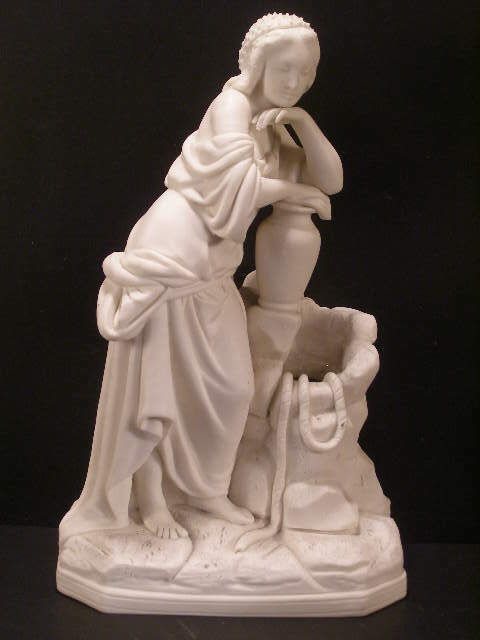 19 c Minton Parian Porcelain Figure Figurine Statue Girl Sculpture Rebecca Vase
