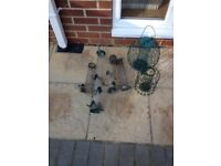 Collection of bird feeders