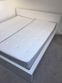 IKEA MALM Super King Bed with HESSENG mattresses