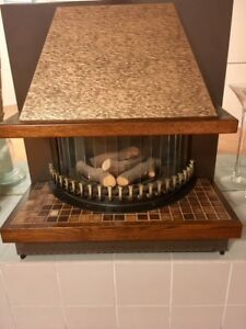 Retro Gas Fireplace - Provides great heat for home or cottage