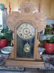 Lovely Tall  Gingerbread Kitchen Shelf Or Mantle Clock