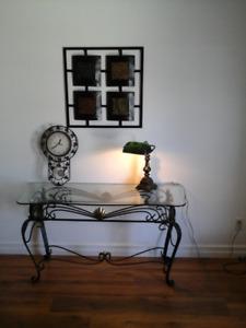 pour l'intérieur horloge,,,,,cadre.....lampe en fer forgé 20.00