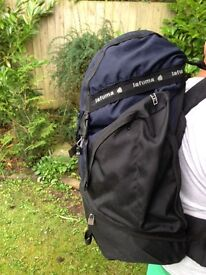 2 x 65 ltr Backpacks with back support and adjustable straps