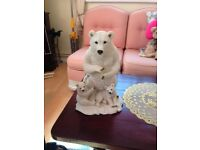 POLAR BEAR WITH CUBS FIGURINE