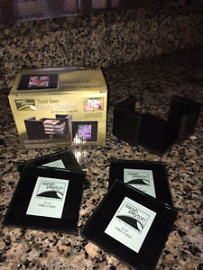 Brand New 4 Glass Coaster Set with Stand & MORE $5/photo!!!