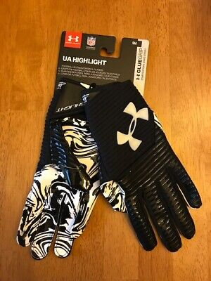 Under Armour Men/'s UA Highlight Football Receiver Gloves 1326220-100 White//Black