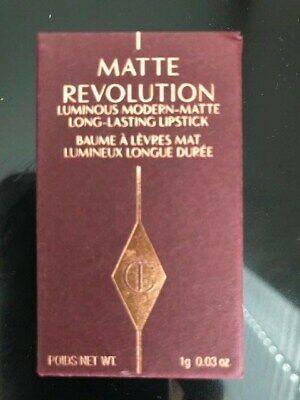 Charlotte Tilbury Matte Revolution Lipstick Pillow Talk 1g TRAVEL Sz NEW IN BOX