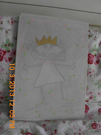 Delightful TK Maxx naive art canvas hand painted picture