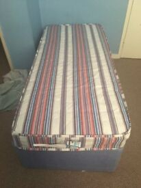 Almost new single bed with mattress