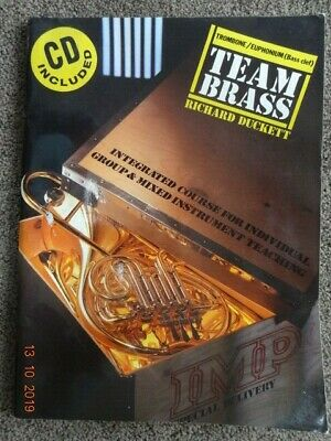 TEAM BRASS MUSIC BOOK TROMBONE/EUPHONIUM Bass Clef (with CD) - Used. for sale  Shipping to South Africa