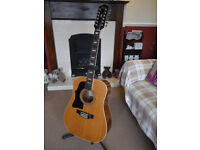 Ibanez 12 String Vintage Acoustic Guitar Japan 1975/76 LEFT HANDED Pre Lawsuit Very Early Serial No.