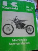 KAWASAKI KX125 KX250 FACTORY WORKSHOP  SERVICE MANUAL c1999 Perth Perth City Area Preview