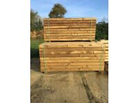 Tannalised pine garden sleepers £20 each