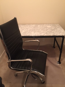 Industrial table and chair for sale