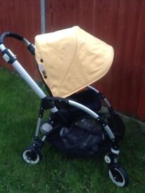 Bugaboo Bee Plus with sunny gold canopy