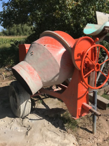 Cement mixer and loader