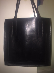 Vintage (90's) Miu Miu black leather tote