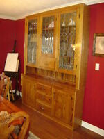 Antique Oak Hutch/Buffet