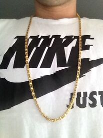 9crt gold cage chain